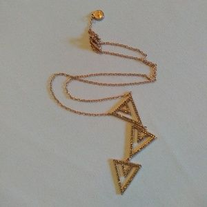 Stella & Dot Multi-Tier Triangle Necklace